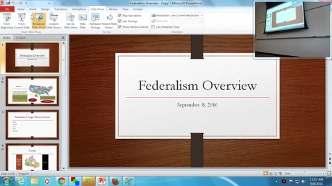 Thumbnail for entry Federalism Overview: Professor Tannahill's Lecture of September 8, 2016