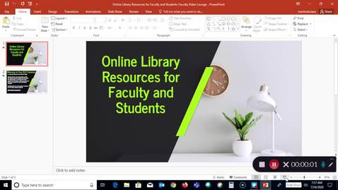 Thumbnail for entry Online Library Resources for Faculty (FVL)