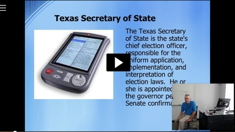 Thumbnail for entry Texas Bureaucracy III: Professor Tannahill's Lecture of March 1, 2016