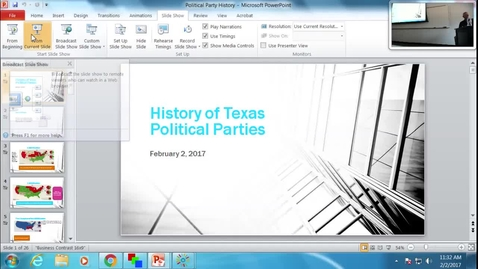 Thumbnail for entry History of Texas Political Parties: Professor Tannahill's Lecture of February 2, 2017