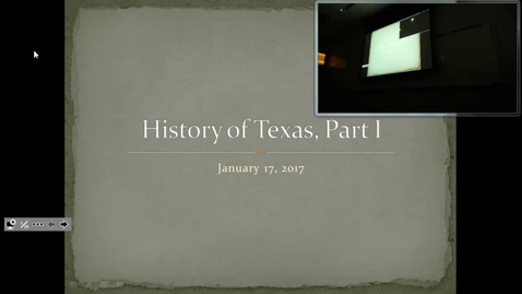 Thumbnail for entry Texas History I: Professor Tannahill's Lecture of January 17, 2017