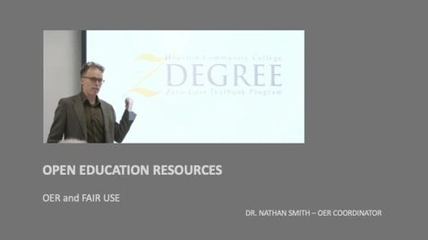 Thumbnail for entry OPEN EDUCATION RESOURCES - OER AND FAIR USE
