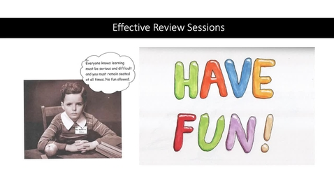 Thumbnail for entry Effective and Engaging Review Sessions - Part 1 of 2
