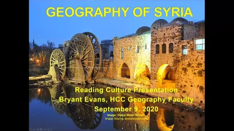 Thumbnail for entry Reading Culture Fall 2020: Introduction to Syria