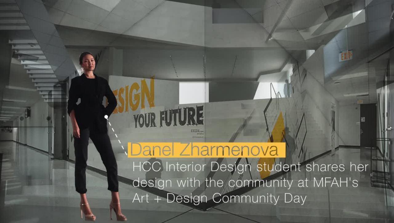 Danel Zharmenova shares her design at Museum of Fine Arts Houston