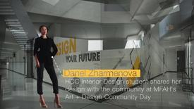 Thumbnail for entry Danel Zharmenova shares her design at Museum of Fine Arts Houston
