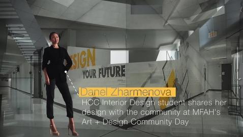 Thumbnail for entry Danel Zharmenova shares her design at Museum of Fine Arts Houston