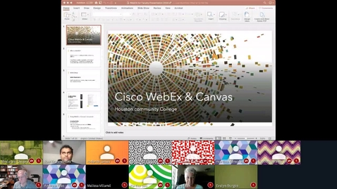 Thumbnail for entry Cisco Webex  - 31 Mar 2020 13:11 - Faculty Video Lounge.mp4