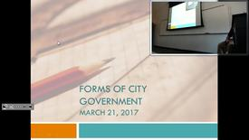 Thumbnail for entry Forms of City Government: Professor Tannahill's Lecture of March 21, 2017