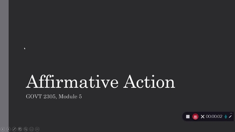 Thumbnail for entry Affirmative Action, September 2020