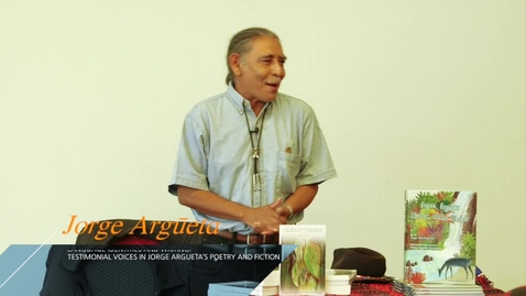 Thumbnail for entry Jorge Argueta: Language, Identity and Writing