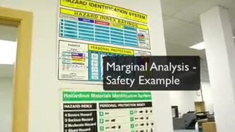 Thumbnail for entry Marginal Analysis - Safety Example