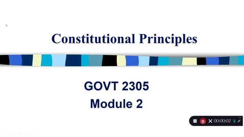 Thumbnail for entry Constitutional Principles, September 2020