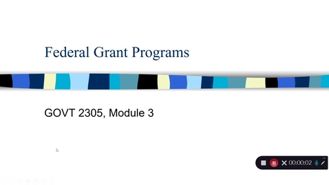 Thumbnail for entry Grant Programs, September 2020