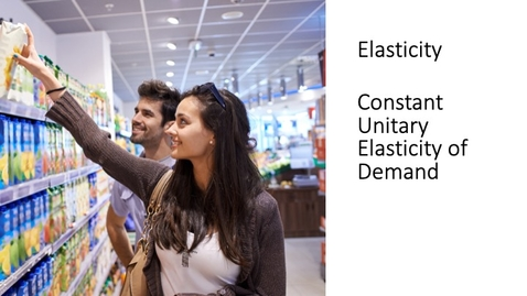 Thumbnail for entry Elasticity - Constant Unitary Elasticity of Demand