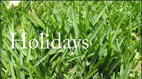 Thumbnail for entry Holidays— Duncan Hasell