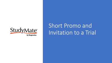 Thumbnail for entry Study Mate Promo