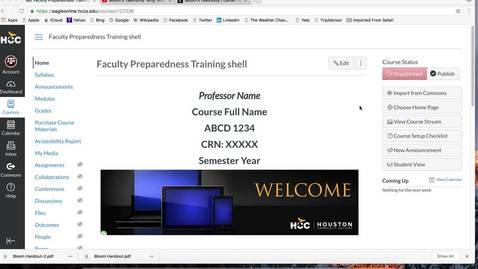 Thumbnail for entry (6 of 12) Faculty Preparedness Series: How to Upload Videos, Webpages, and Images