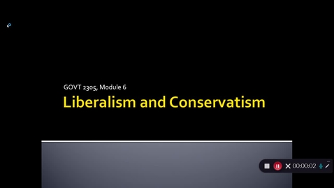 Thumbnail for entry Liberalism and Conservatism, September 2020