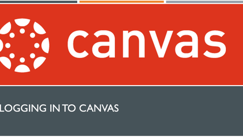 Thumbnail for entry Canvas - Logging In