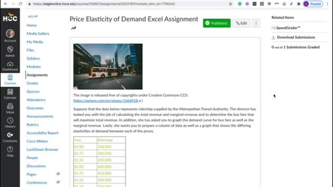 Thumbnail for entry Elasticity of Demand Excel Assignment Video