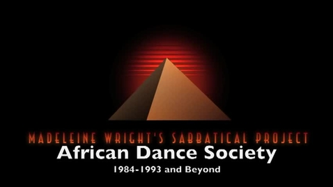 Thumbnail for entry History of African Dance Society at HCC