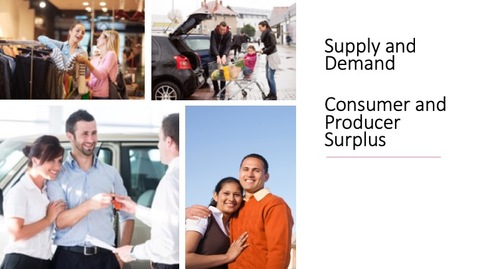 Thumbnail for entry Supply and Demand - Consumer and Producer Surplus
