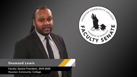 Thumbnail for entry HCC Faculty Senate President Updates: Jan. 16, 2020