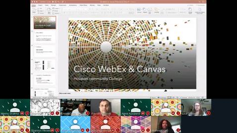 Thumbnail for entry WebEX on Canvas - 25 Mar 2020 - Faculty Video Lounge.mp4