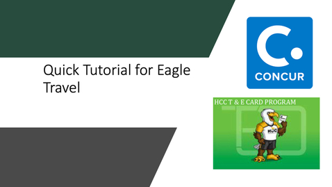 Thumbnail for entry Eagle Travel & Expense - Quick Tutorial