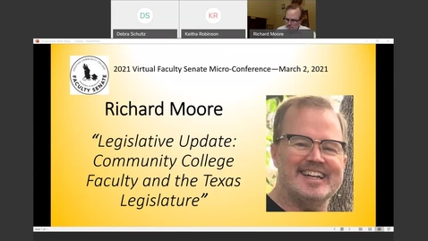 Thumbnail for entry 2021 Virutal Faculty Senate Micro-Conference--March 2