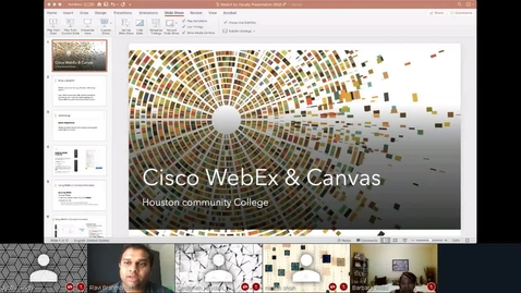 Thumbnail for entry WebEx on Canvas - 24 Mar 2020 - Faculty Video Lounge.mp4