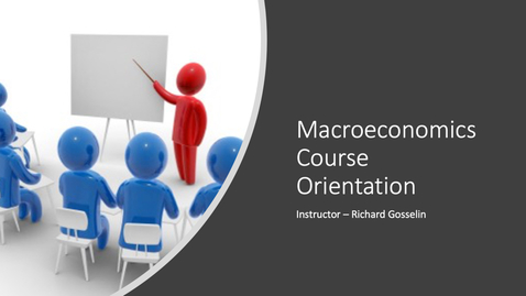 Thumbnail for entry Macro Course Orientation