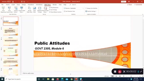 Thumbnail for entry Public Attitudes, September 2020