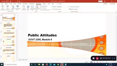 Thumbnail for entry Public Attitudes, September 2020