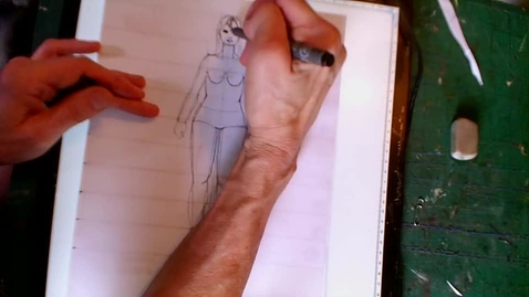 """Thumbnail for entry DRAWING MUSCLE TONE & SKIN TONE ON THE 9"""" PLUS SIZE FIGURE: ONE APPROACH"""