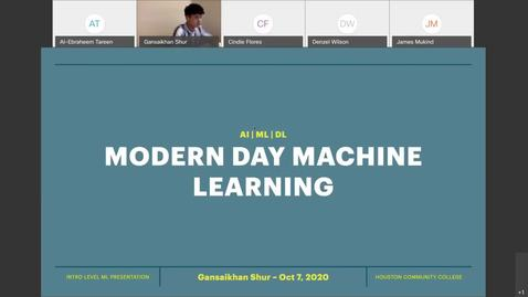 Thumbnail for entry Modern Day Machine Learning - Gansaikhan Shur