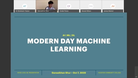 Thumbnail for entry Modern Day Machine Learning - Gansaikhan Shur