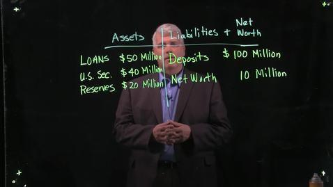 Thumbnail for entry A Bank's Balance Sheet