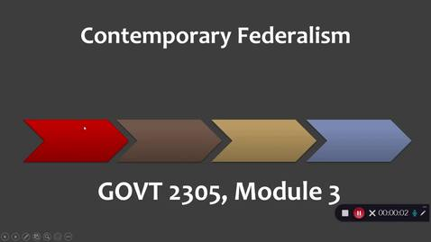 Thumbnail for entry Contemporary Federalism, September 2020