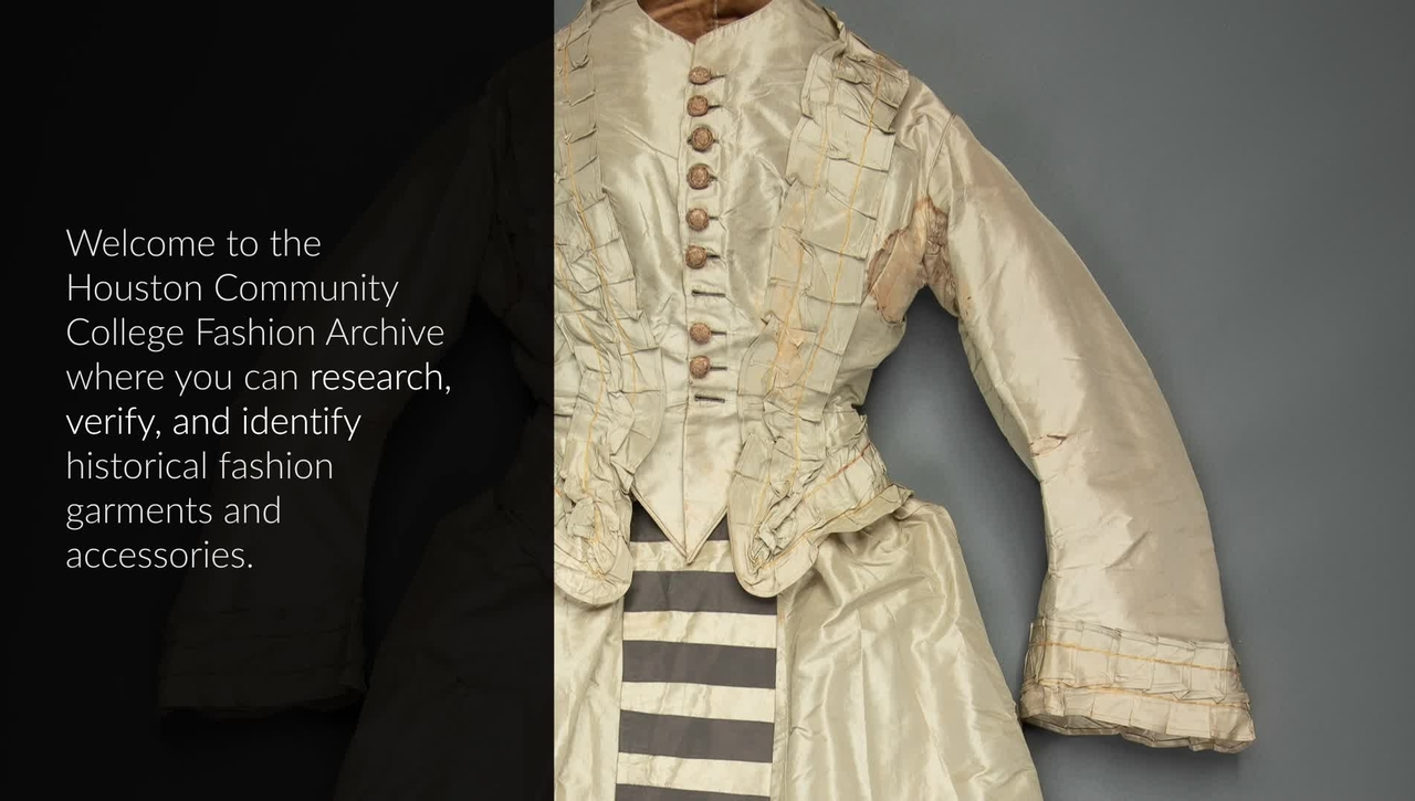 Introduction to the Digital Fashion Archive at Houston Community College