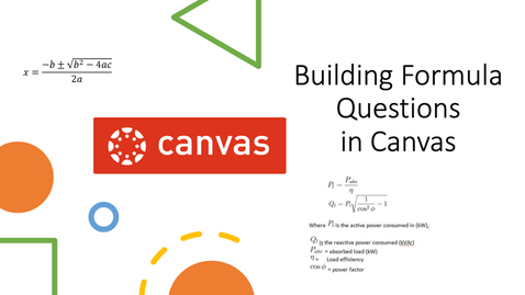 Thumbnail for entry Building Formula Questions in Canvas