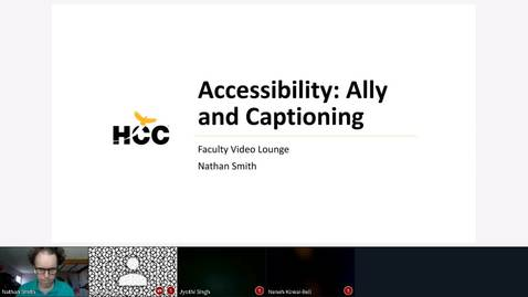 Thumbnail for entry Faculty Video Lounge -- Accessibility in Ally and Kaltura Captioning