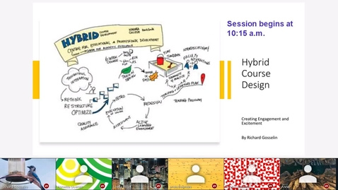 Thumbnail for entry Hybrid Course Design - Creating Engagement and Excitement