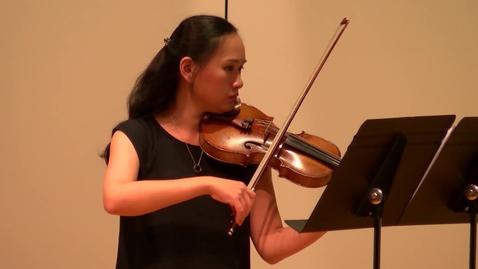 Thumbnail for entry Yu-Fang Chen Violin Recital (HCCTV)