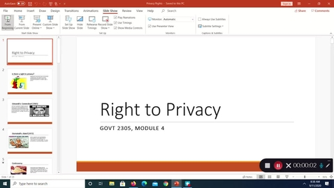 Thumbnail for entry Right to Privacy, September 2020