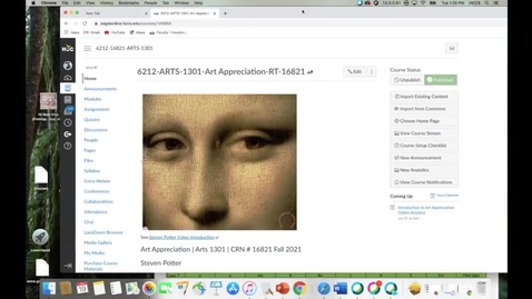 Thumbnail for entry Steven Potter Art Appreciation online anytime introduction