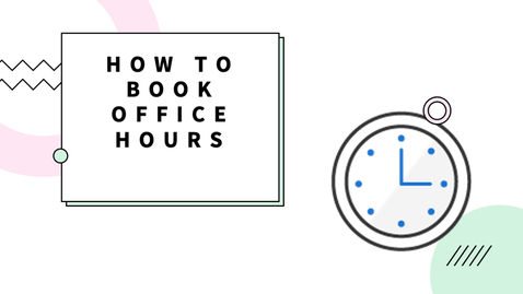 Thumbnail for entry How to Book Office Hours - Professor Gosselin