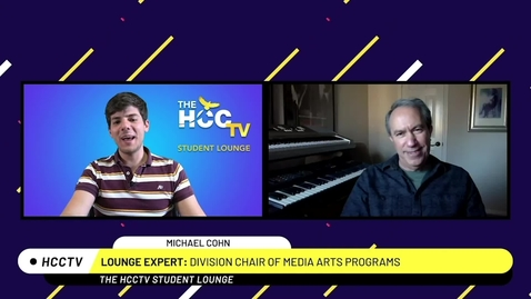 Thumbnail for entry The HCCTV Student Lounge |Media Arts Chair Michael Cohn
