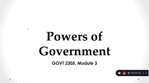 Thumbnail for entry Powers of Government, September 2020